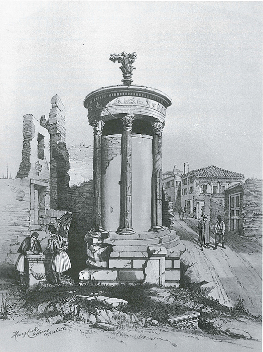 Henry Cook: Lysikrates Monumentet, 1850