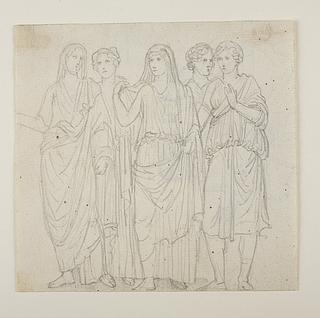 Ofrende romersk kejser og to gudinder