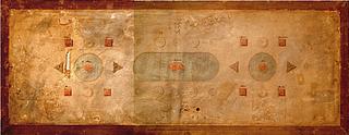 Bordplan med Christian 8.s borddekoration, udateret, Kongernes Samling, Amalienborg, København, fotograf Peter Kristiansen