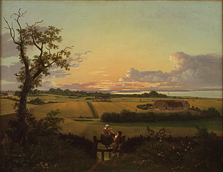 C.W. Eckersberg: Landskab med stente, Møn, antagelig 1810