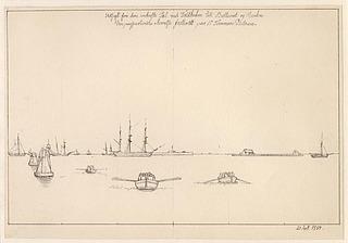 C.W. Eckersberg: Thorvaldsens Ankomst og Modtagelse paa Kjøbenhavns Rhed den 17de September 1838, 1838