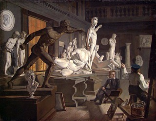 Knud Baade, Fra Kunstakademiet i København, 1827-1828, Natjonalmuseet, Oslo, inv.nr. NG.M.01589