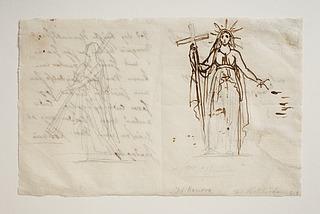 Bertel Thorvaldsen: To statuer af Religionen, ca. 1820 - Copyright tilhører Thorvaldsens Museum