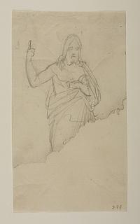 Bertel Thorvaldsen: Skitse til Kristus-statuen, ca. 1821 - Copyright tilhører