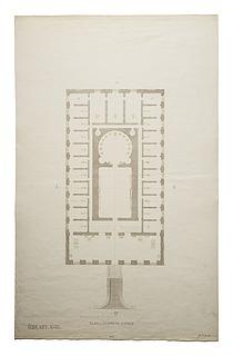 Thorvaldsens Museum, udkast No.2 plan af første sal