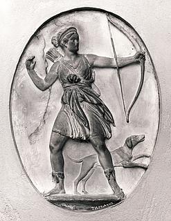 Bertel Thorvaldsen: Diana dræber Orion - Copyright tilhører Thorvaldsens Museum
