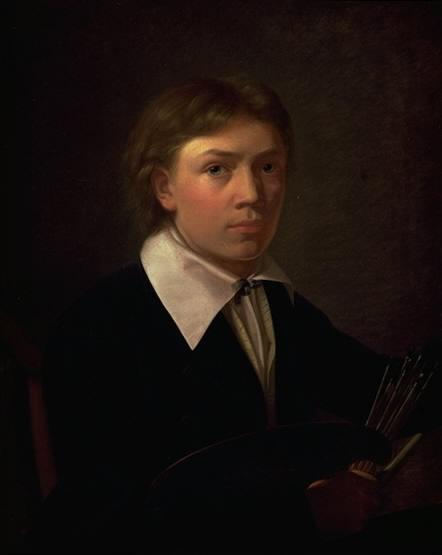 Constantin Hansen: Selvportræt, 1825