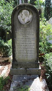Gravmæle for R. Wyatt, Cimitero Acattolico