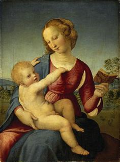 Raffaello Sanzio: Madonna Colonna, 1507-08 (Public domain, artbible.info)