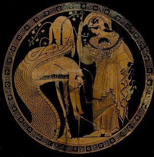 Douris: Jason i dragens gab bivånet af Athene, ca. 480 f.Kr.