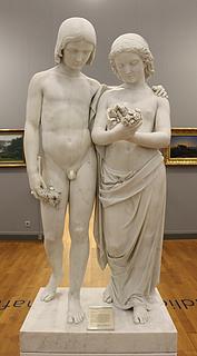 Werner Henschel: Freud und Leid, 1844-50, marmor, Landesmuseum Hannover