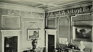 Hams Hall, interior of the entrance hall, with Thorvaldsen's Alexander Frieze