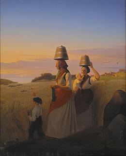 Jørgen Sonne. Landlig scene.