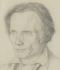 Christen Købke: Bengt Erland Fogelberg, detail