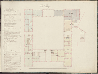Plan of the ground floor of Charlottenborg Palace, © Danish National Art Library