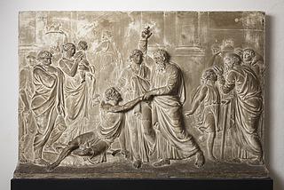 Bertel Thorvaldsen: Peter og Johannes helbreder en halt, 1793 (Copyright tilhører Thorvaldsens Museum)