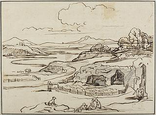 Den romerske Campagne med Cervaro-hulerne
