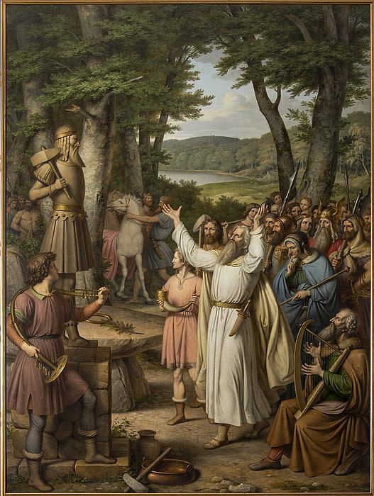 J.L. Lund: Offerscene fra Odinsk tid