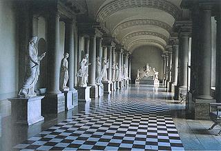 Stora galleriet i Kongl. Museum/Gustav III:s Antikmuseum efter rekonstruktionen 1992.