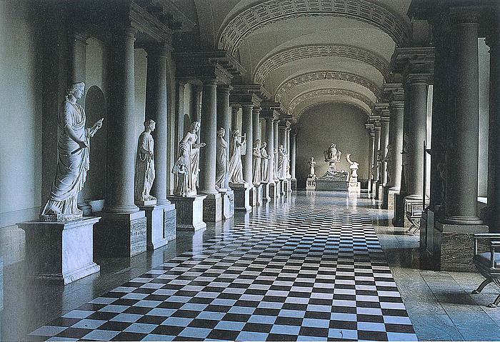 Store galleriet i Kongl. Museum/Gustav III's Antikmuseum efter rekonstruktionen 1992