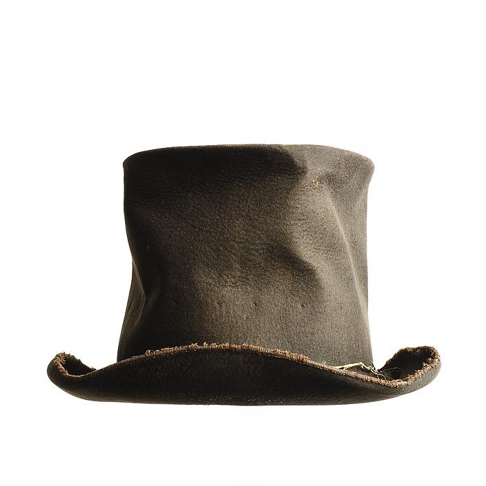 Thorvaldsens høje hat, båret ved hjemkomsten til København 17.9.1838