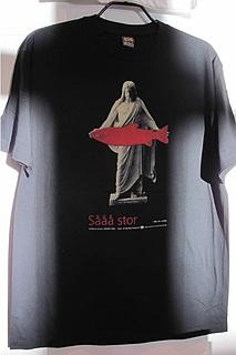 Børre Larsen, Sååå stor, 1996, Sørlandets Kunstmuseum, Kristiansand, printet på t-shirt