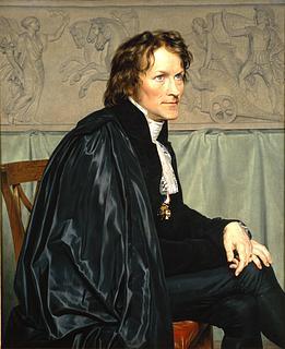 C.W. Eckersberg: Bertel Thorvaldsen i San Luca Akademiets dragt, 1814, Kunstakademiet, København