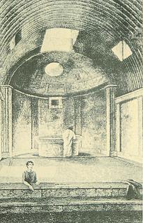 William Gell: Rekonstruktion af caldariet, 1820'erne - Copyright tilhører Thorvaldsens Museum