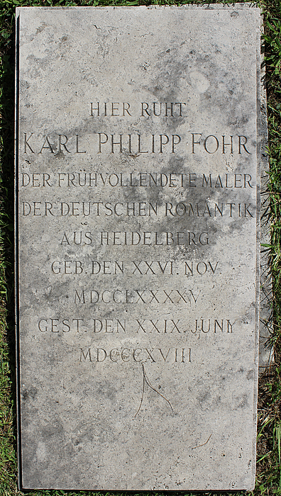 Gravmæle for K.P. Fohr, Cimitero Acattolico