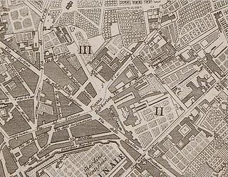 Piazza Barberina, Pietro Ruga, 1818