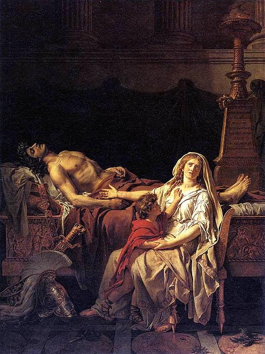 Jacques-Louis David: Andromakes klage ved Hektors lig, 1783