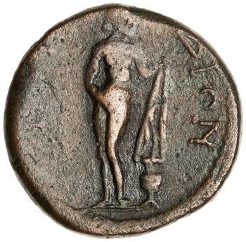 Bronzemønt med Afrodite fra Knidos, 211-217 e.Kr.
