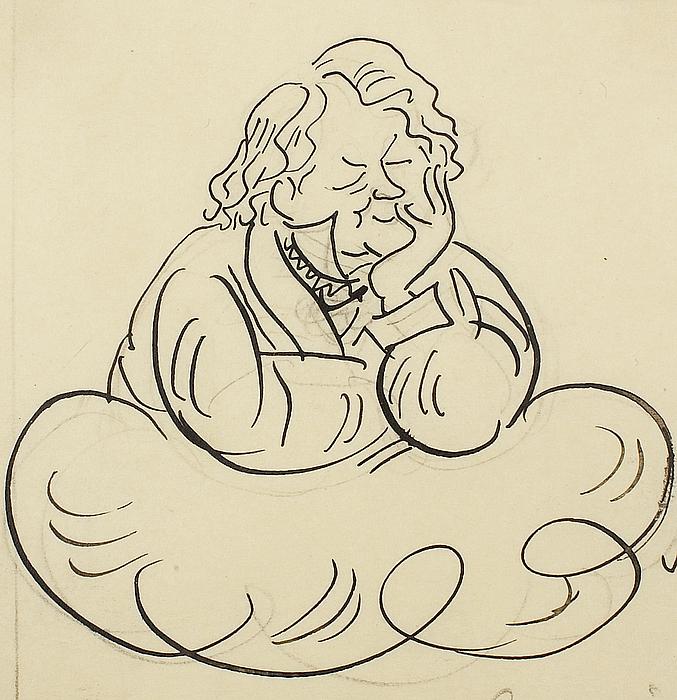 Karikatur af Thorvaldsen
