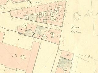 Catasto Urbano di Roma, Rione Trevi, Suddivisioni IV DETALJE af Piazza Barberini