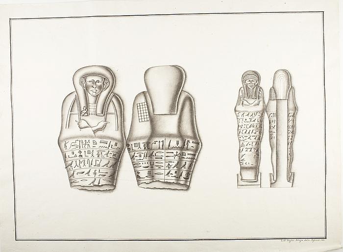Mumiefigurer med hieroglyffer