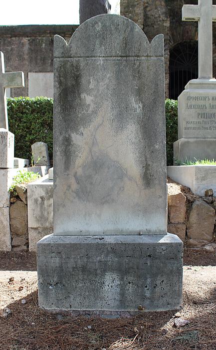 Gravmæle for Dietrich Wilhelm Lindau, Cimitero Acattolico