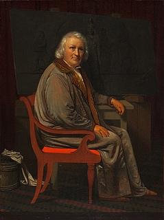 Johan Vilhelm Gertner: Thorvaldsen in seinem Atelier, um 1839, Öl auf Holz, 33 x 24,5 cm