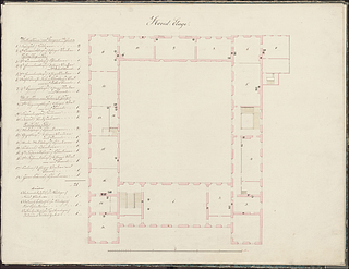 Plan of the main floor of Charlottenborg Palace, © Danish National Art Library