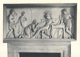 Priamos bønfalder Achilleus om Hektors lig, Palazzo Giraud-Torlonia, Rom; foto 1929.