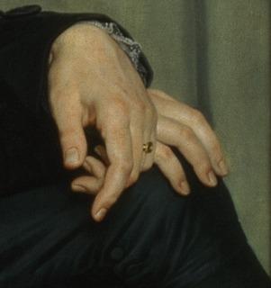C. W. Eckersberg: Bertel Thorvaldsen, 1814 (Detalje) - Public domain