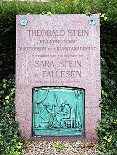 Gravmæle, Th. Stein, Holmens Kirkegård, foto 2020
