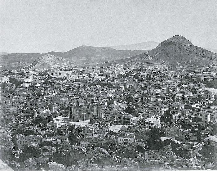 Felix Bonfils: Den centrale del af Athen, 1869-70