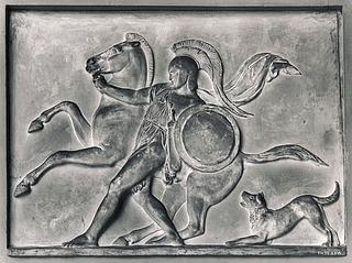 Bertel Thorvaldsen: Kriger fører en hest, 1831- Copyright tilhører Thorvaldsens Museum