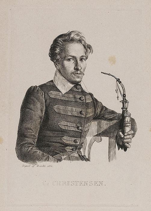Caroline Behrend efter forlæg af Wilhelm Bendz 1831: Christen Christensen