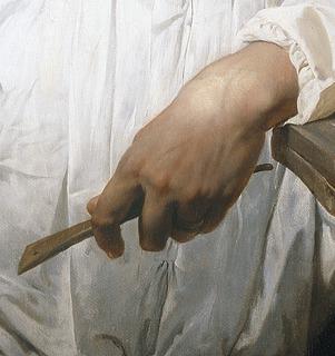 H. vernet: B. Thorvaldsen (Detalje) - Copyright tilhører Thorvaldsens Museum