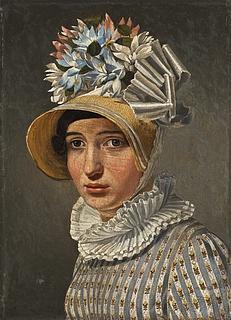 Portræt af ubekendt dame, antagelig Eckersbergs romerske model Maddalena