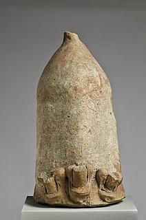 Anatomisk votiv i form af en kollossal fallos med tre mindre falloi. Etruskisk-italisk, Thorvaldsens Museum