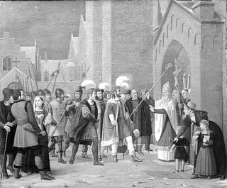 Svend Estridsen og biskop Vilhelm.