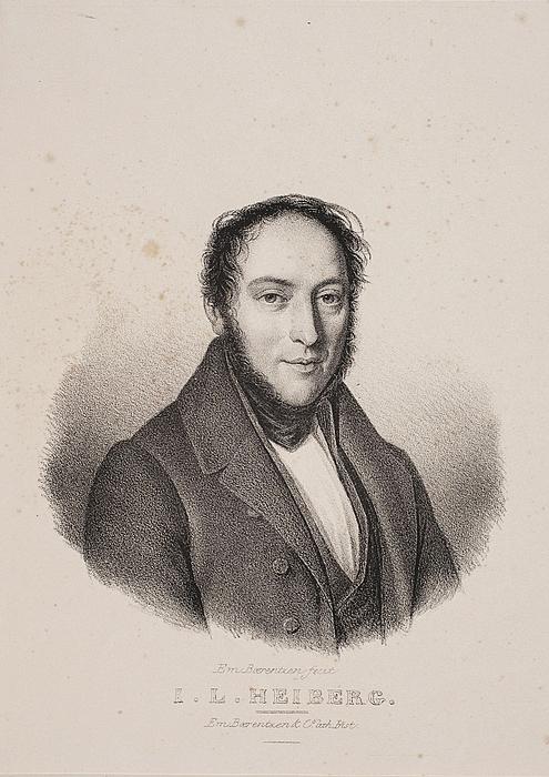 Em. Bærentzen: Johan Ludvig Heiberg, Ca. 1839