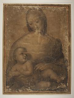 Ubekendt (tidligere tilskrevet Rafael): Maria med barnet (Copyright tilhører Thorvaldsens Museum)